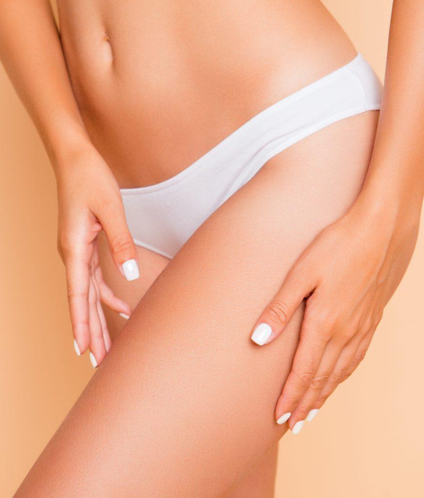 Close up image of women's waist